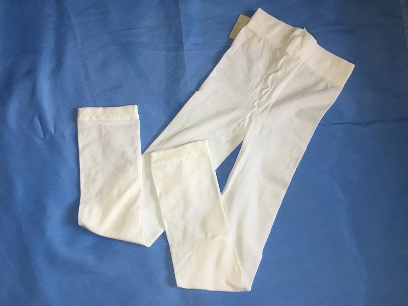Белоснежные капроновые лосинки на девочку ~98-104 размер