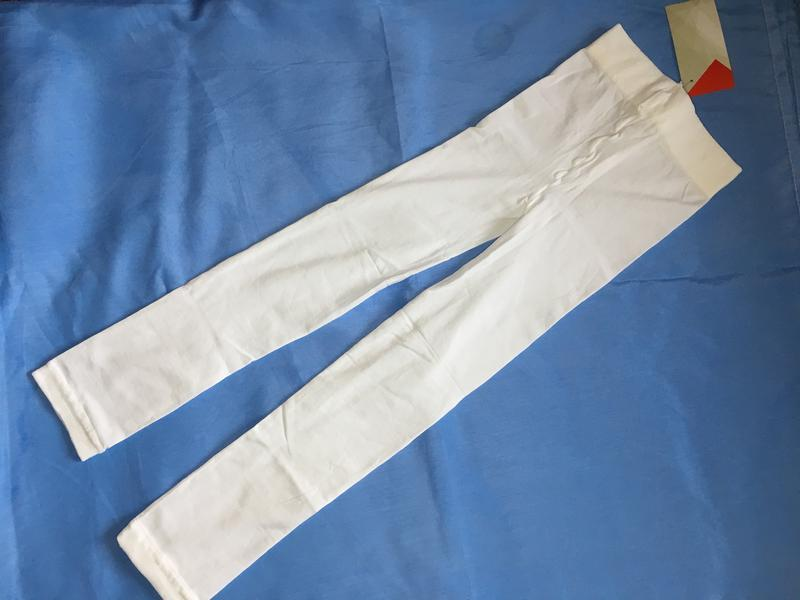 Белоснежные капроновые лосинки на девочку ~98-104 размер - Фото 3