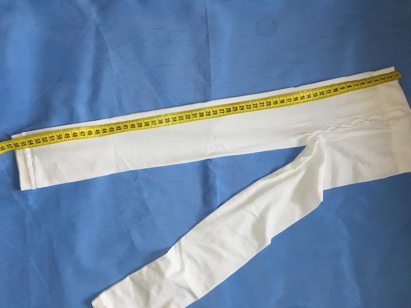 Белоснежные капроновые лосинки на девочку ~98-104 размер - Фото 4
