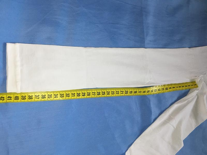Белоснежные капроновые лосинки на девочку ~98-104 размер - Фото 5