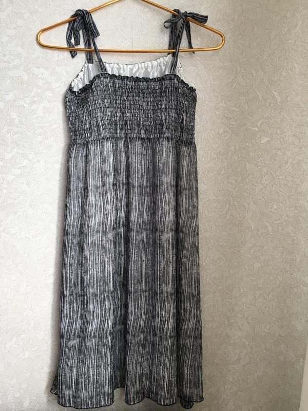 Красивый летний, шифоновый сарафан, платье - Фото 2