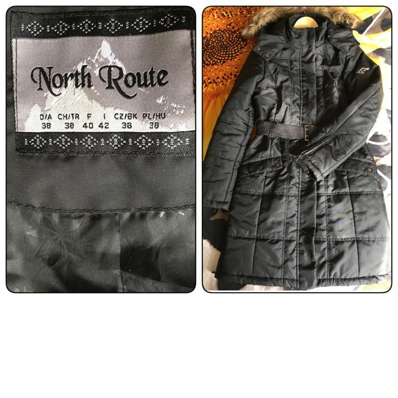 Красивая, демисезонная  удлинённая  куртка. германия north route - Фото 5