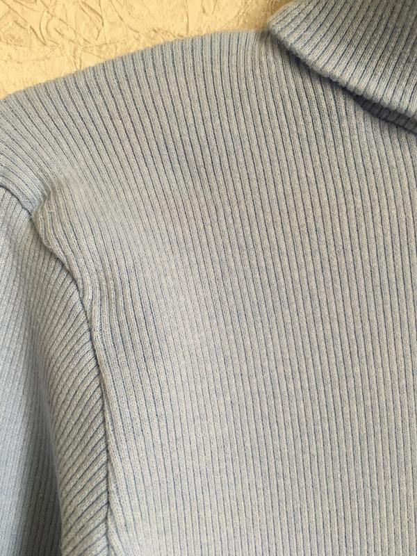 Голубой гольфик в рубчик - Фото 3