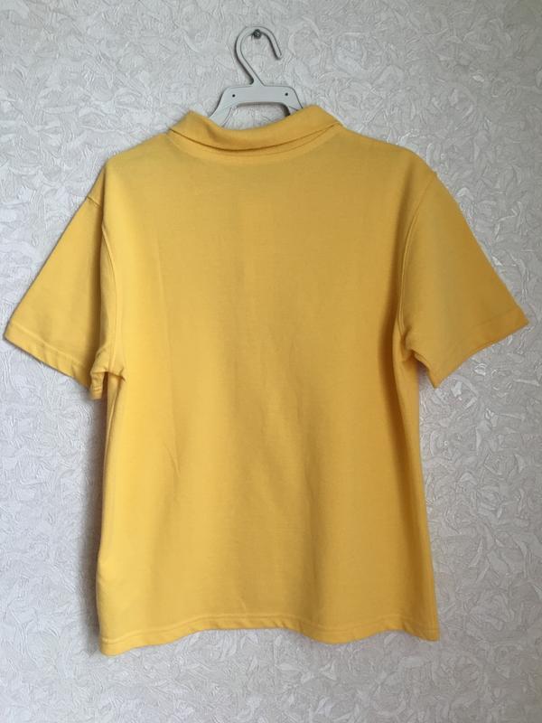Желтая футболка поло на мальчика 9-10 лет. back to school - Фото 2