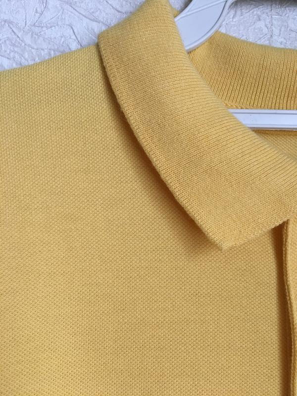 Желтая футболка поло на мальчика 9-10 лет. back to school - Фото 4