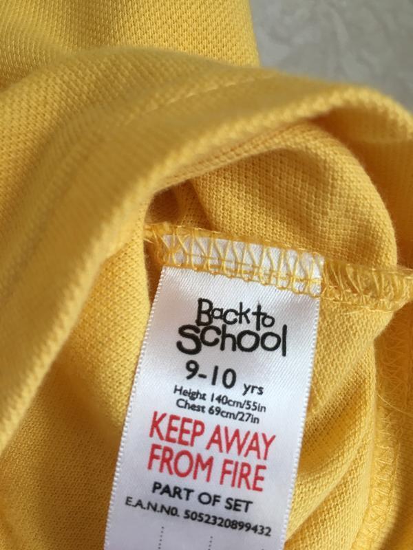 Желтая футболка поло на мальчика 9-10 лет. back to school - Фото 5