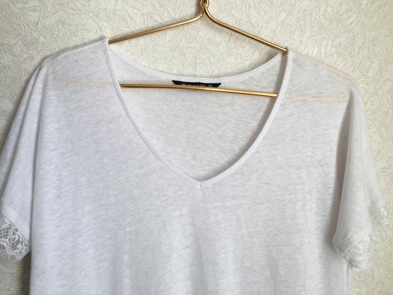 Прекрасная, нежная футболка с кружевом - Фото 4