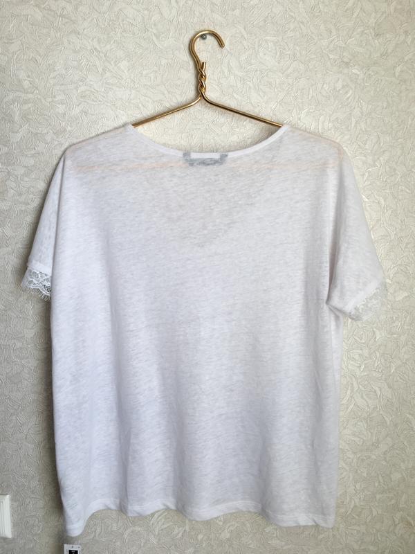 Прекрасная, нежная футболка с кружевом - Фото 5