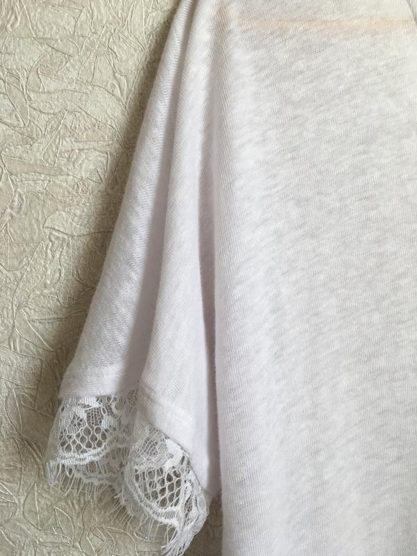Прекрасная, нежная футболка с кружевом - Фото 6