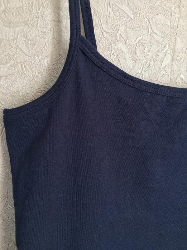 Темно-синяя майка на бретельках esmara lingerie. - Фото 4