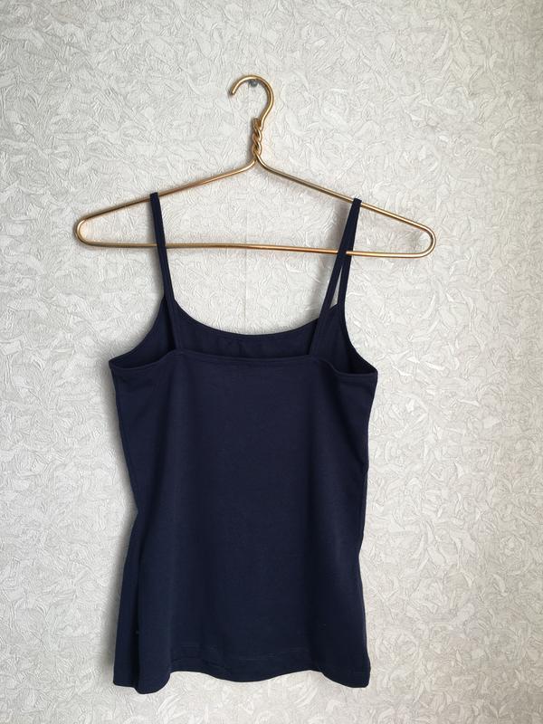 Темно-синяя майка на бретельках esmara lingerie. - Фото 5