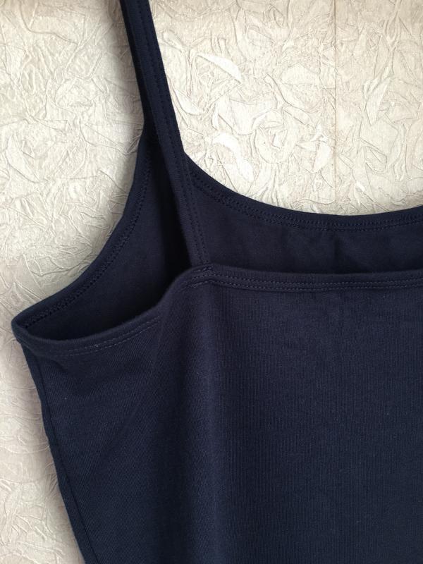 Темно-синяя майка на бретельках esmara lingerie. - Фото 6