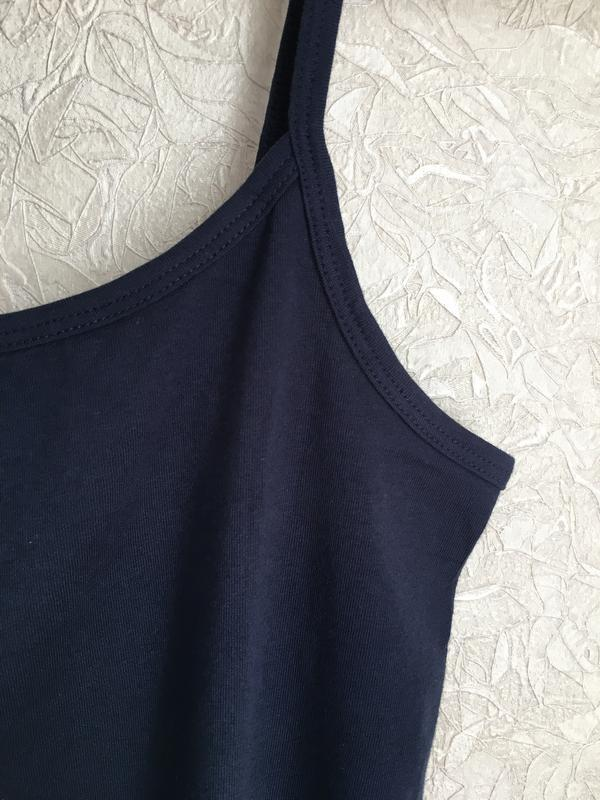 Темно-синяя майка на бретельках esmara lingerie. - Фото 8