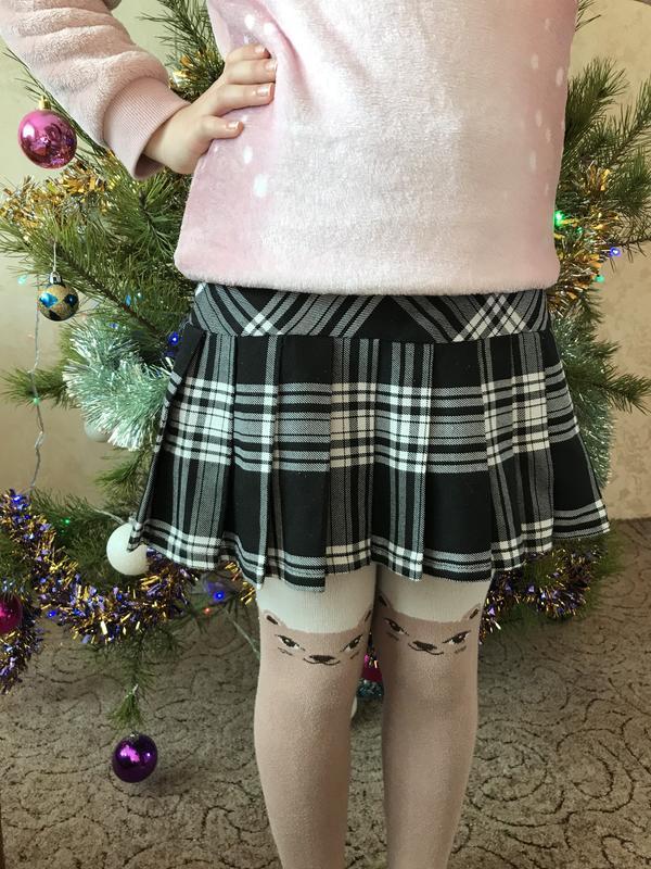 Красива юбка в клетку на девочку 8-9 лет - Фото 3