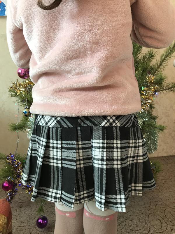 Красива юбка в клетку на девочку 8-9 лет - Фото 4