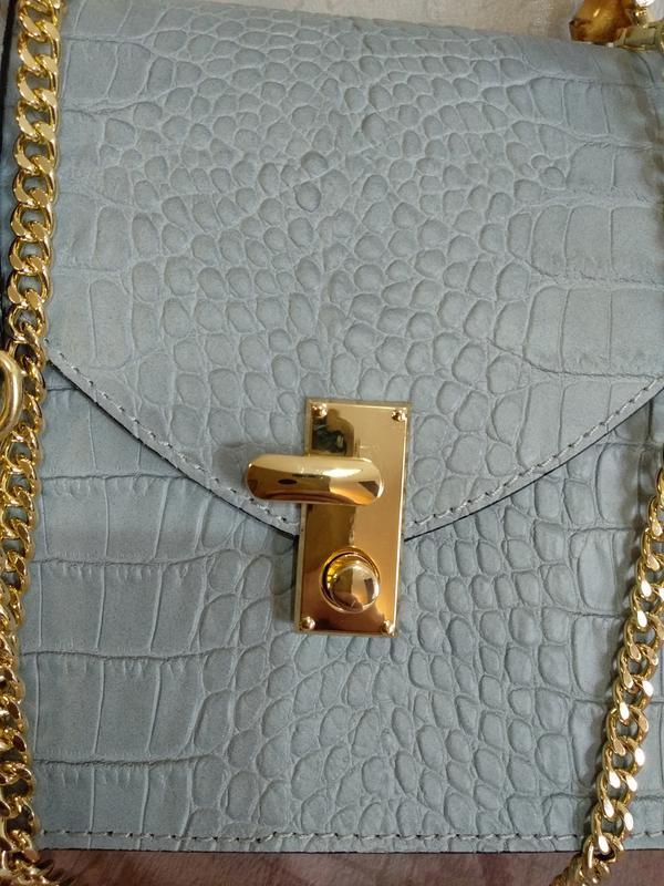 Оригинальная и стильная сумочка с бамбуковой ручкой - Фото 5