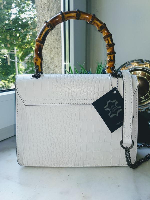 Оригинальная и стильная сумочка с бамбуковой ручкой - Фото 2