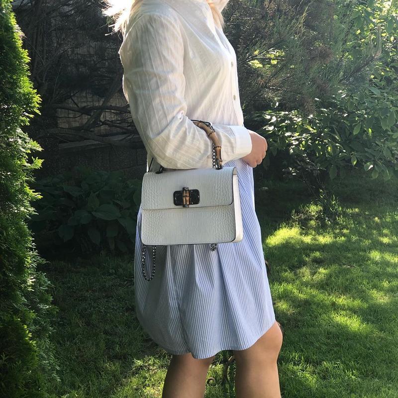 Оригинальная и стильная сумочка с бамбуковой ручкой - Фото 9