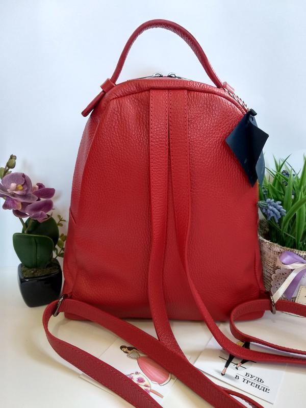 Лёгенький и удобный кожаный рюкзак - Фото 2