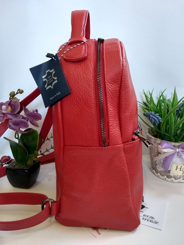 Лёгенький и удобный кожаный рюкзак - Фото 3