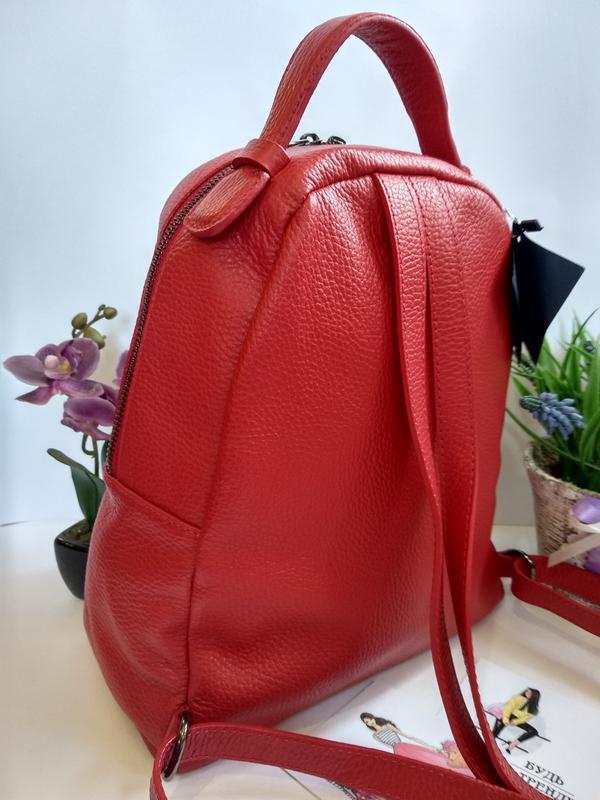 Лёгенький и удобный кожаный рюкзак - Фото 5
