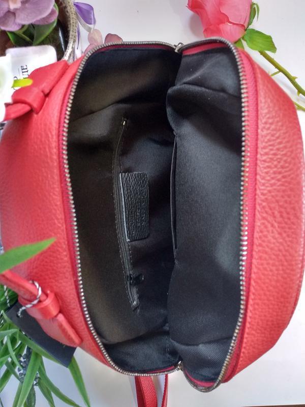 Лёгенький и удобный кожаный рюкзак - Фото 7