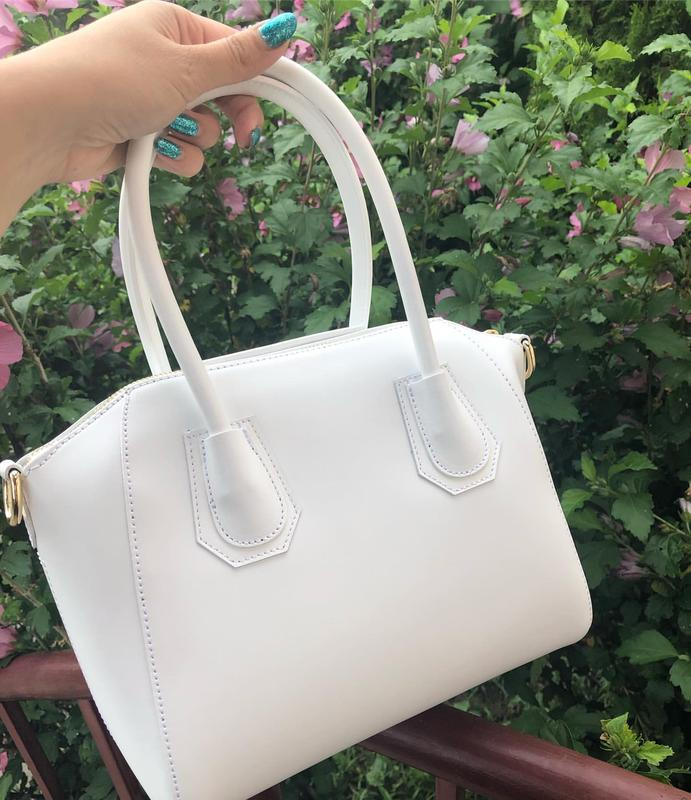 Кожаная сумка в стиле givenchy - Фото 2