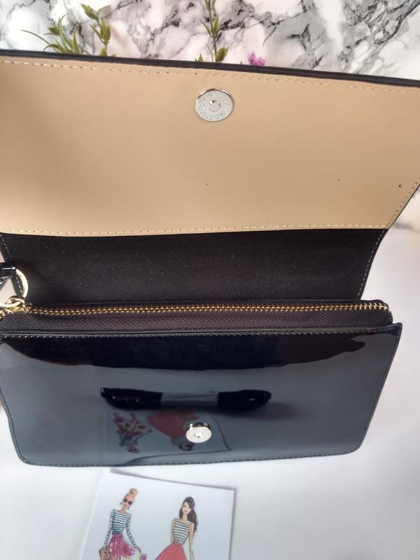 Лаковая сумочка-клатч из эко-кожи - Фото 4