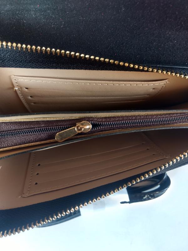 Лаковая сумочка-клатч из эко-кожи - Фото 6
