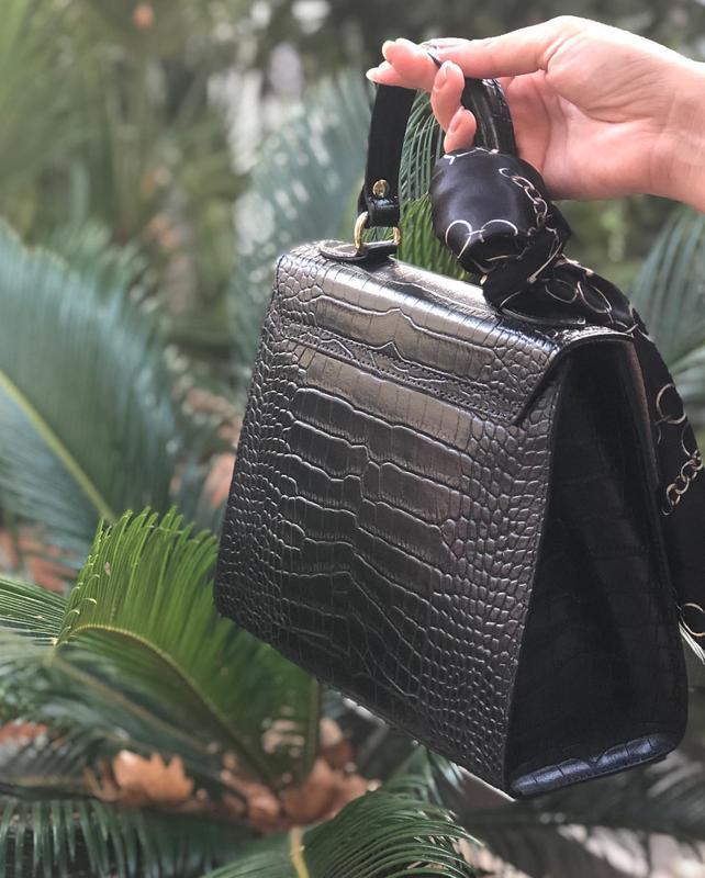 Кожаные сумочки в комплекте с платочком - Фото 2