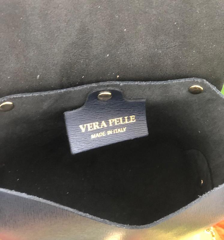 Женская кожаная сумочка vera pelle италия - Фото 2