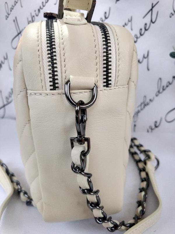 Шикарная сумочка-кроссбоди vera pelle италия. - Фото 5