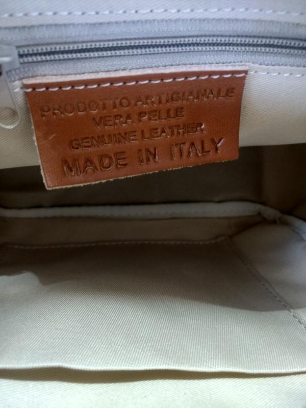 Шикарная сумочка-кроссбоди vera pelle италия. - Фото 9
