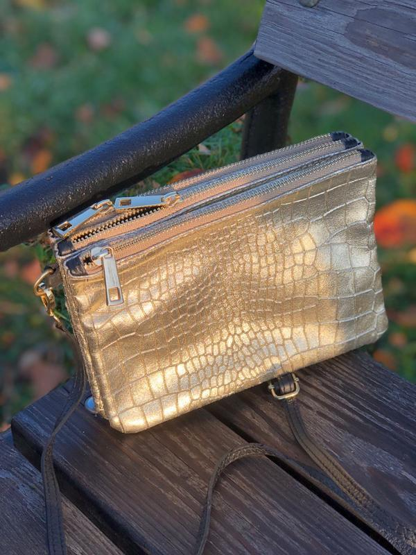 Вместительные кожаные сумочки на три отделения - Фото 2