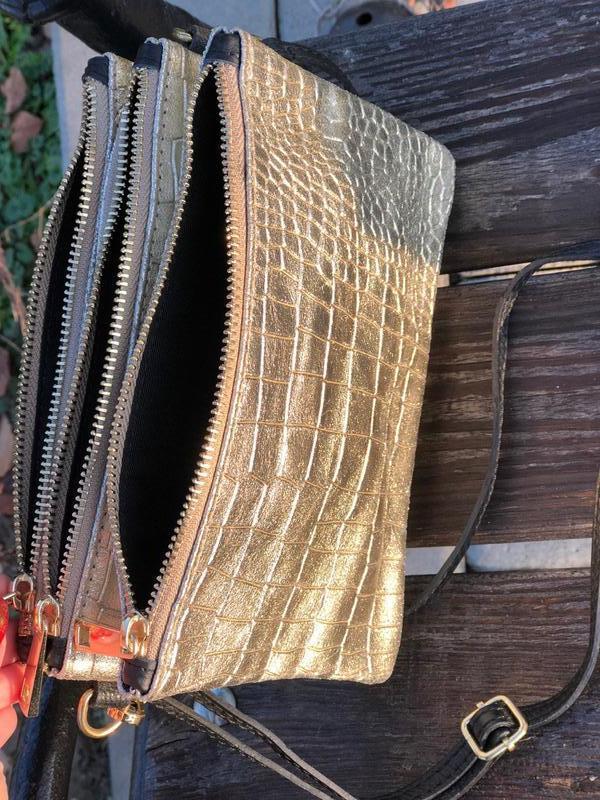 Вместительные кожаные сумочки на три отделения - Фото 5