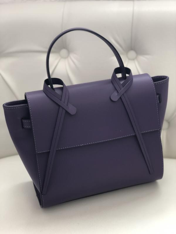 Элегантная кожаная сумка  genuine leather италия - Фото 2