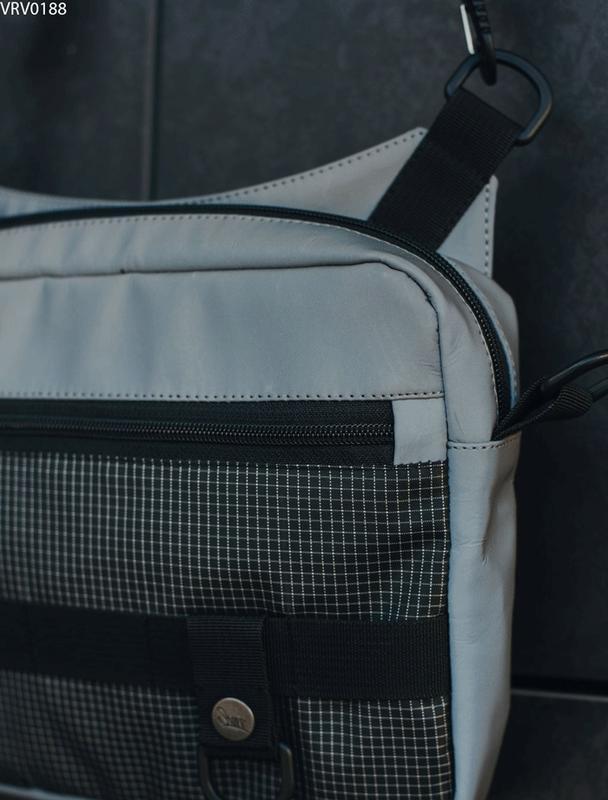 Сумка через плечо staff gray reflective - Фото 3