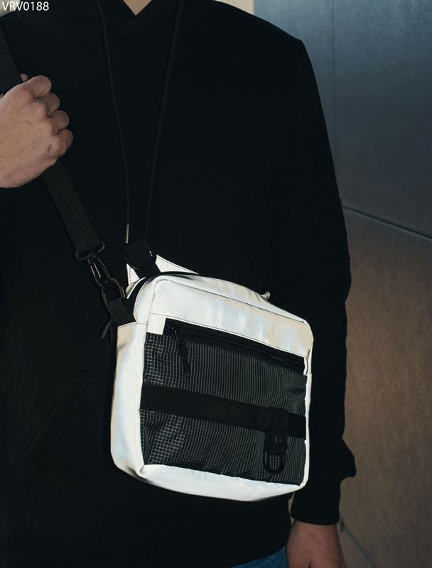 Сумка через плечо staff gray reflective - Фото 5