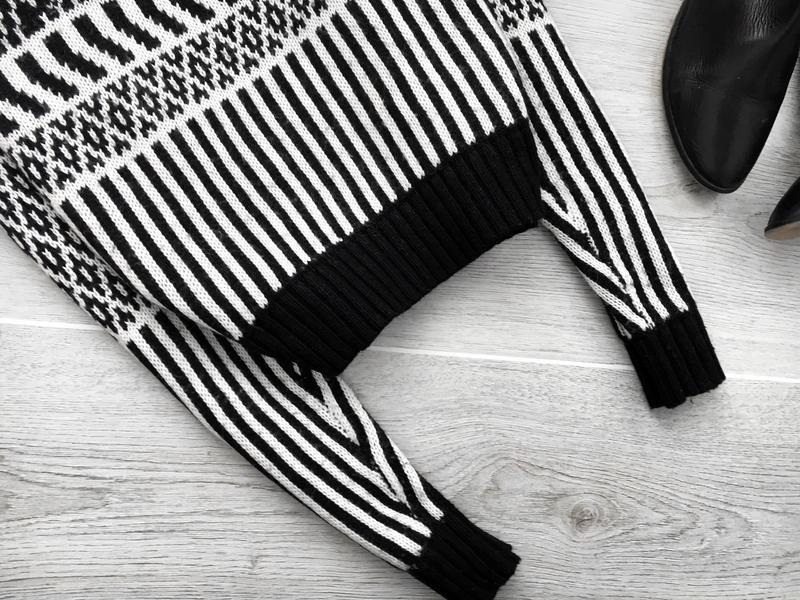 Актуальный свитер/джемпер  в орнаментный принт topshop - Фото 3