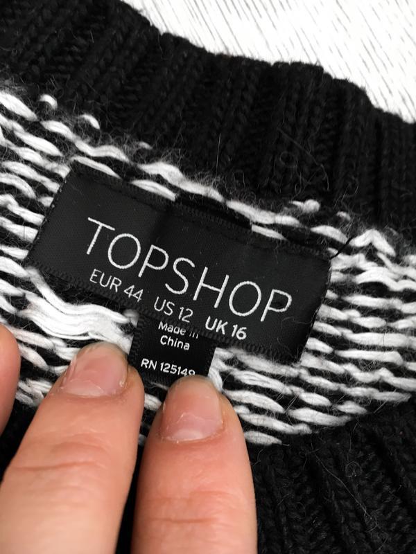 Актуальный свитер/джемпер  в орнаментный принт topshop - Фото 4