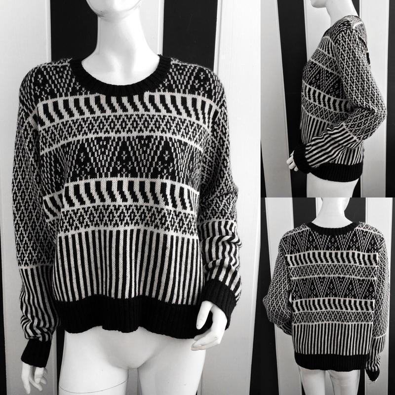 Актуальный свитер/джемпер  в орнаментный принт topshop - Фото 5