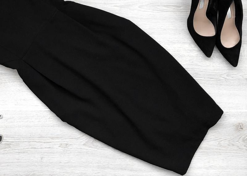 Крутое классическое миди платье с v-образным вырезом - Фото 3