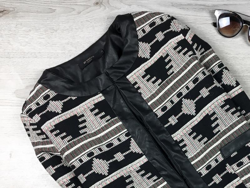 Крутой жакет/пиджак куртка в принт in vogue - Фото 2