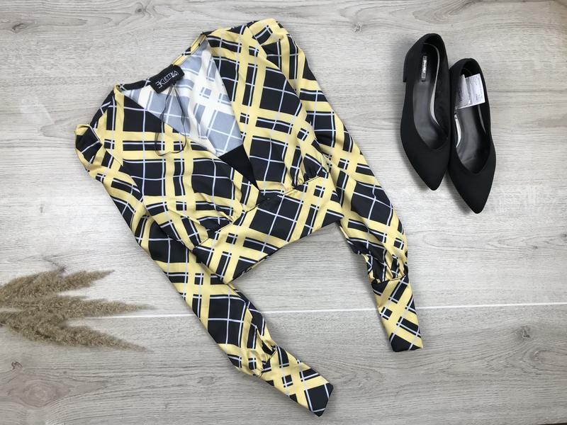 Крутая блуза/блузка/кроп в клетку eklettika