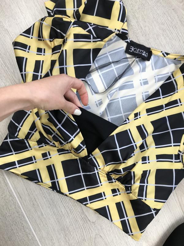 Крутая блуза/блузка/кроп в клетку eklettika - Фото 2