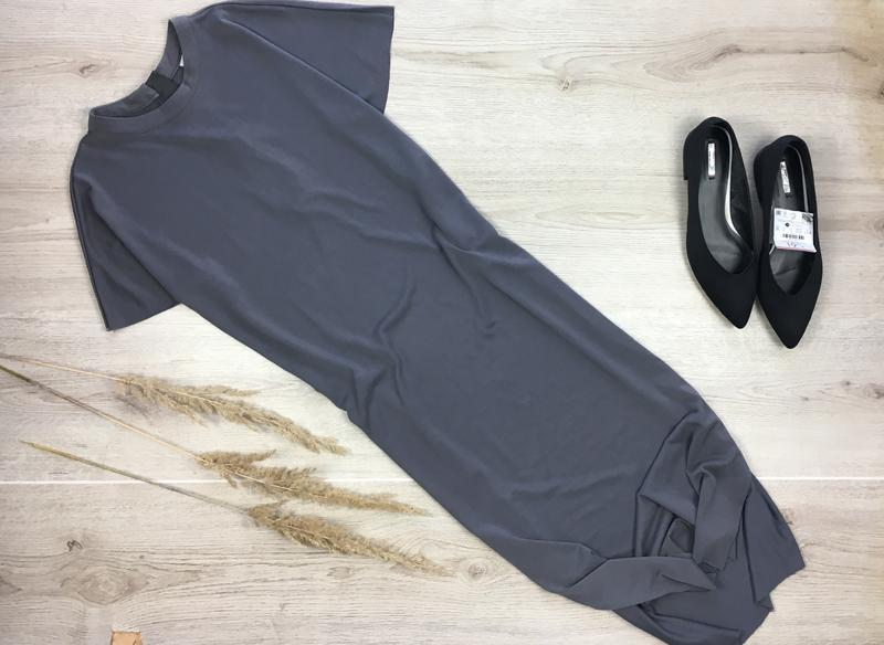 Крутое миди платье с разрезами по боках selected femme