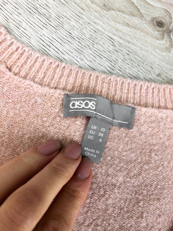 Милейший свитер/джемпер/пуловер/реглан цвета пудры asos - Фото 4