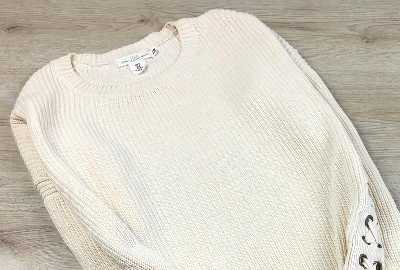 Невероятный свитер/джемпер с шнуровкой h&m - Фото 2