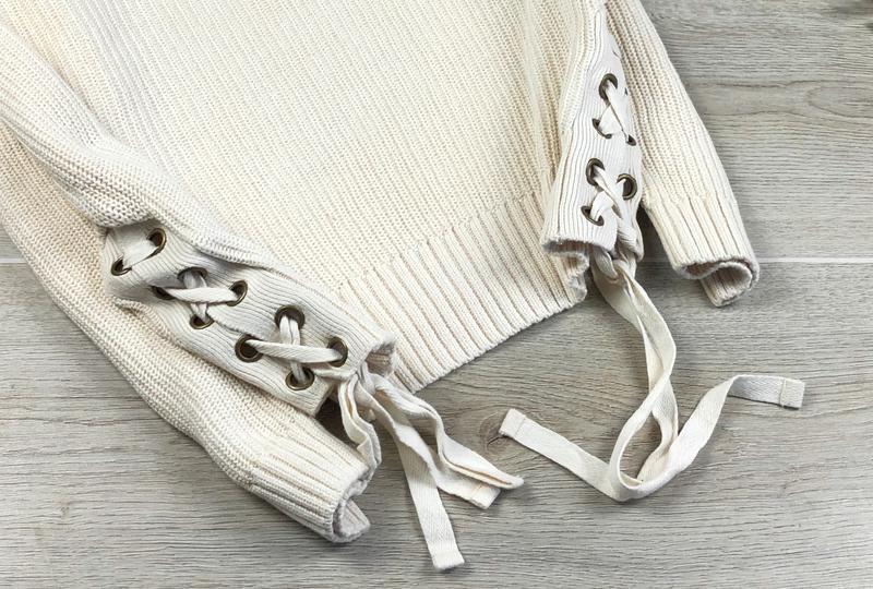 Невероятный свитер/джемпер с шнуровкой h&m - Фото 3