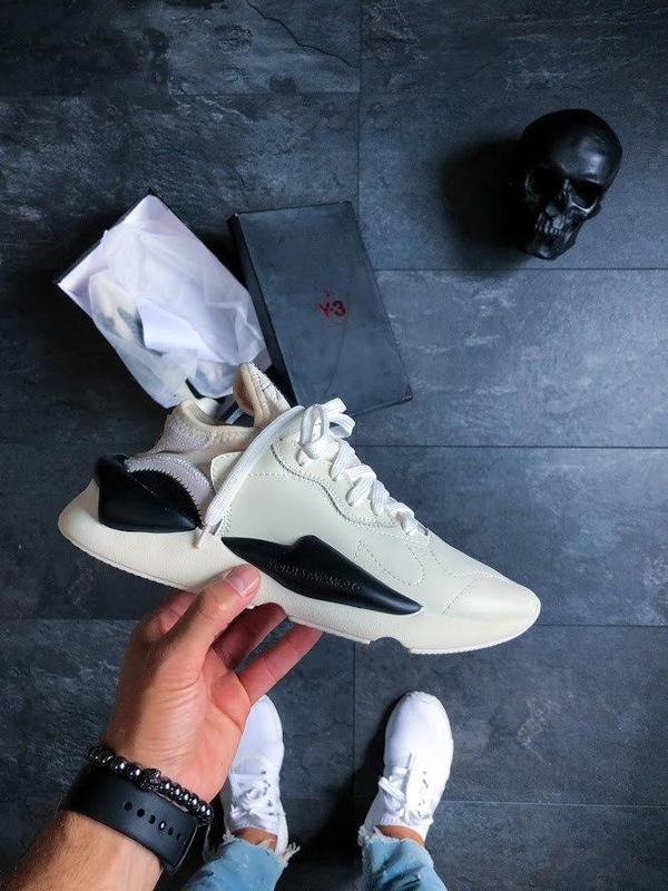 Шикарные женские кроссовки adidas y-3 kaiwa black/white 😍 (вес...